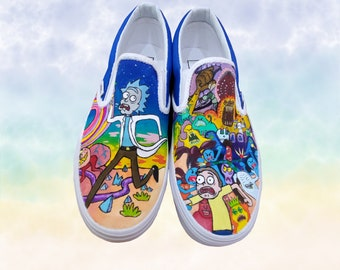 Rick and morty vans | Etsy