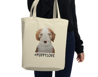 Handsome Puppy Pet Photography Picture Handbag Craft Poker Spade Canvas Bag Shopping Tote