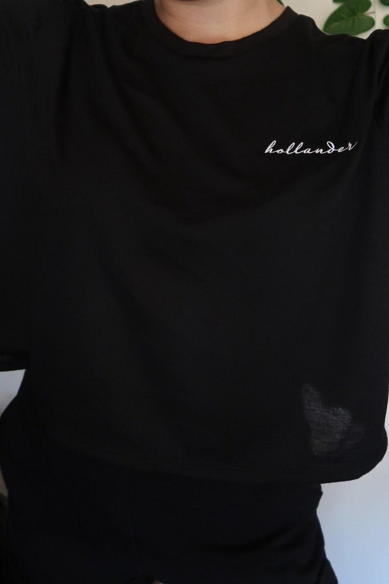 Tom Holland Hollander Embroidered Flowy Crop Shirt