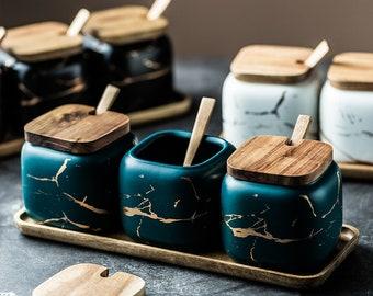 Spice Jars • Wooden Spice Rack • Spice Labels • Spice Spoon • Kitchen Storage Cabinet • Kitchen Gifts • Kitchen Labels