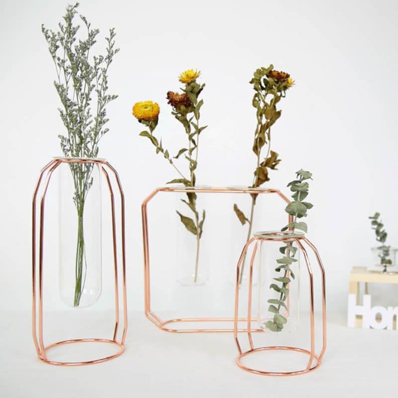 Flower Vase  Blown Glass Vase  Glass Ornament  Tall Vase  image 1