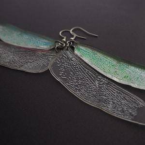 gold-tone Bee wing Jewelry- B234 Dragonfly Wing Dangle Earrings