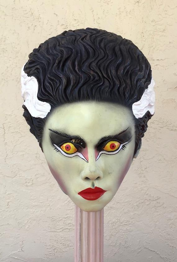 Vintage Bride of Frankenstein Rubber Mask Hallowee
