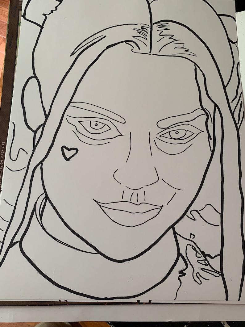 18x24 Harley Quinn Illusion Scratch Art