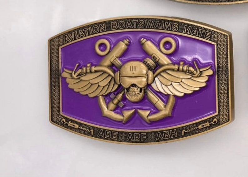 Gold Aviation boatswains mate buckles