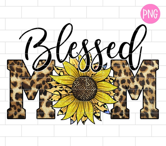 Blessed MOMMY Clipart for Shirt Design  Shirt and Mug Sublimation  Boy Mom in Gray Lime Green and Orange  INSTANT DOWNLOAD Aqua