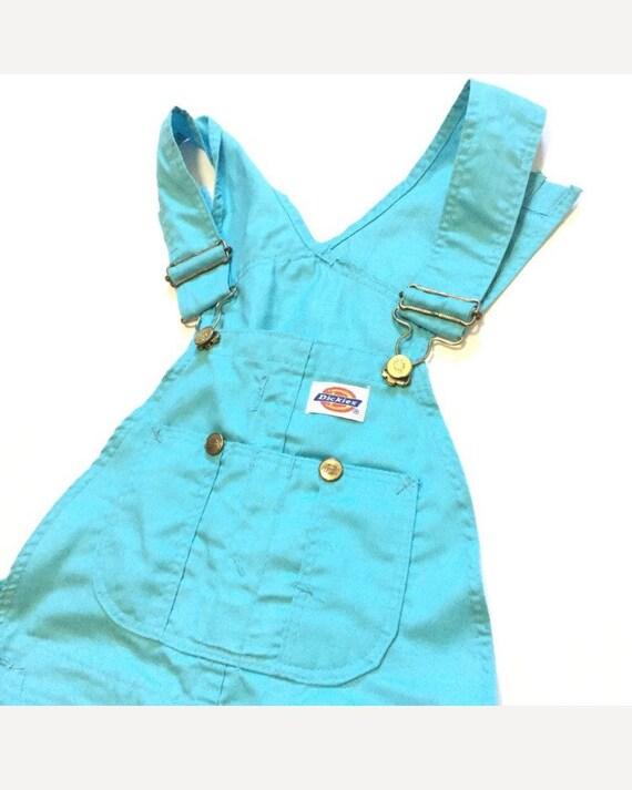 Vintage Dickies overalls shorts 26x33 teal colorwa