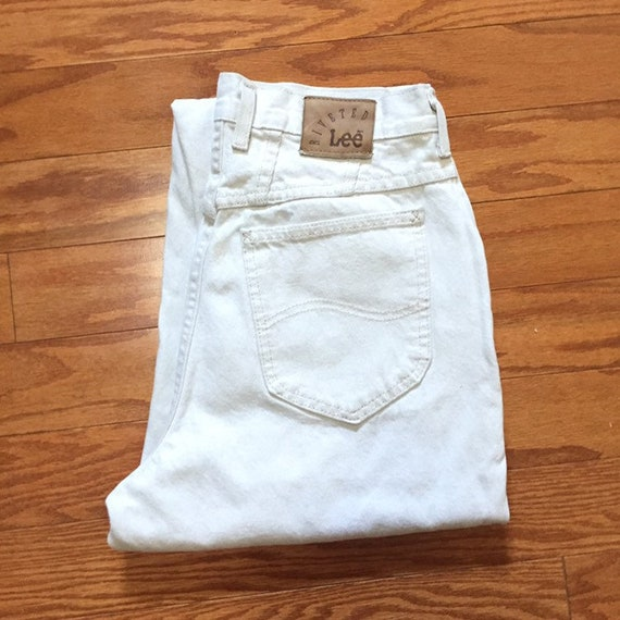 Vintage high waisted LEE RIVETED jeans size 10 cre