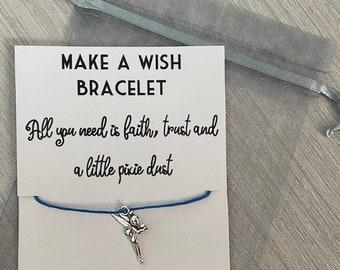 Peter Pan Tinker Bell Bracelet Wish Tinker Bell la deuxième étoile à droite