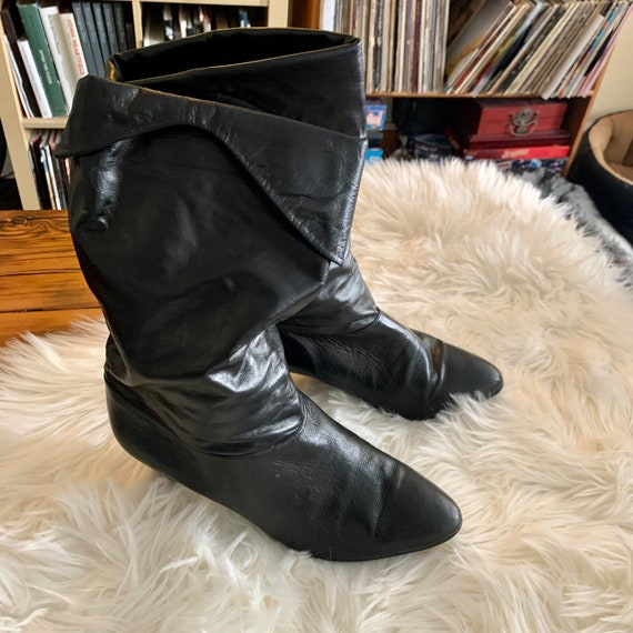 Vintage 1970's Ankle Slouch Boots