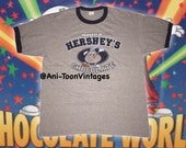 Early 00s HERSHEY S KISSES Chocolate Size XL on Tag by Anvil In Great Condition