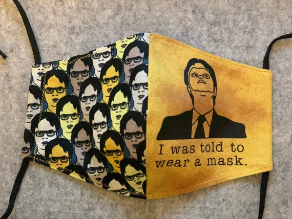The office mask, Dwight mask, Dwight Schrute mask, Schrute farms mask