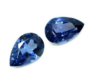 GGL Certificate 6 to 9 Ct Looking Trillion Cut Blue Natural Tanzanite Pair Gem