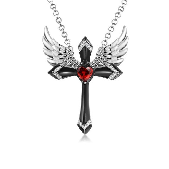 Pendant Necklace Charm Chain 18 925 Sterling Silver CZ Cubic Zirconia Angel Of Marriage 18in