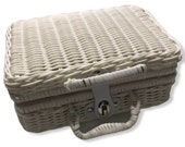 Travel picnic basket handmade Wicker storage Case Vintage Suitcase Props Box weave bamboo boxes outdoor rattan organizer bohemia style