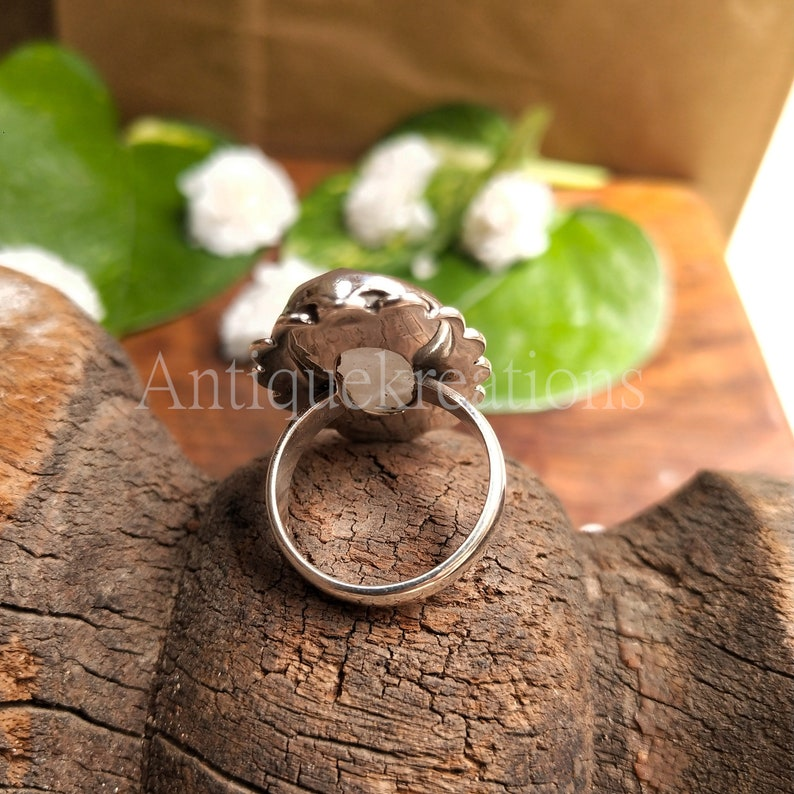 gift for her Natural Golden Rutile Statement ring Golden Rutile Ring promise ring love stone sterling silver Jewelry valentine gift