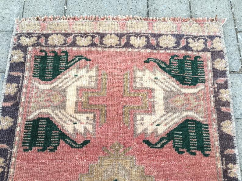 Bathroom Rug Handmade Turkish Rug Small Area Rug Decorative vintage Rug Handknotted Rug Oushak Rug 1/'7x2/'10 Love Pile Turkish Rug