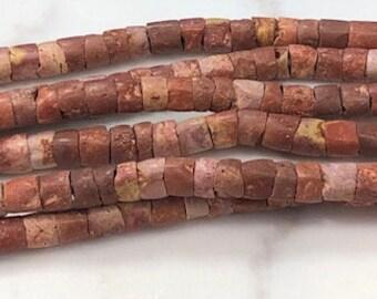 Bauxite Stone Carved Beads Ghana Africa 135640