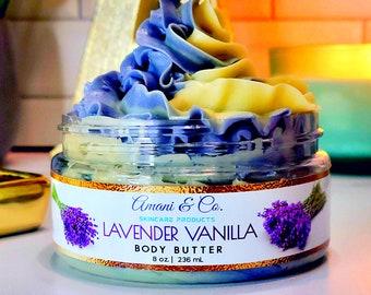 Lavender Vanilla Shea Body Butter   Whip Body Butter   Organic Body Butter   Natural Skincare   Black Own Business   Gift for Her