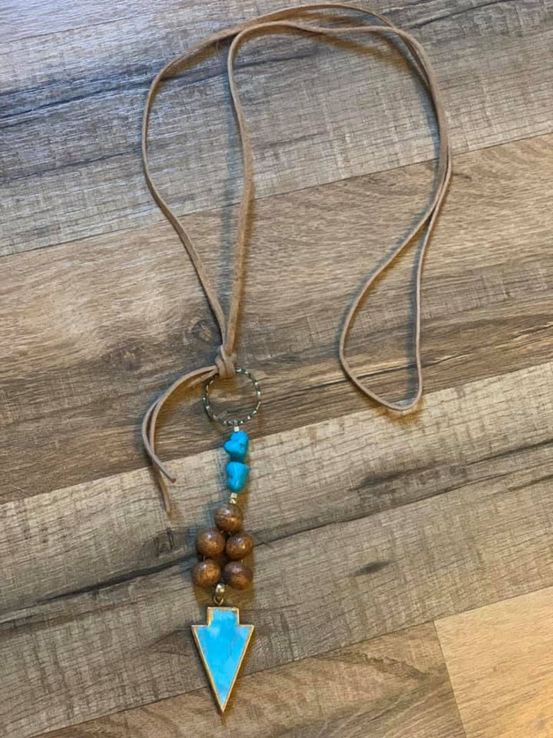 Turquoise Arrow Necklace