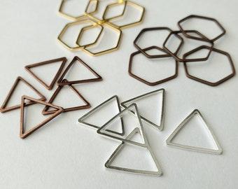 US 10.5 & 15   SET   Stitch Marker Metal Shapes Bulky Rings   Stitch Marker for Knit