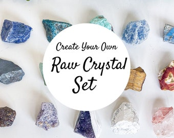 Create Your Own Raw Crystal Set, 54 Crystals To Choose From, Raw Crystals, Rough Crystals, Crystal Set, Crystal Kit