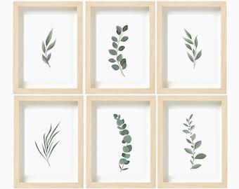 Foliage Greenery Botanical Prints print Nursery Wall Art Plant Leaves Leaf Eucalyptus Wall Decor Printable Bedroom poster Digital Download