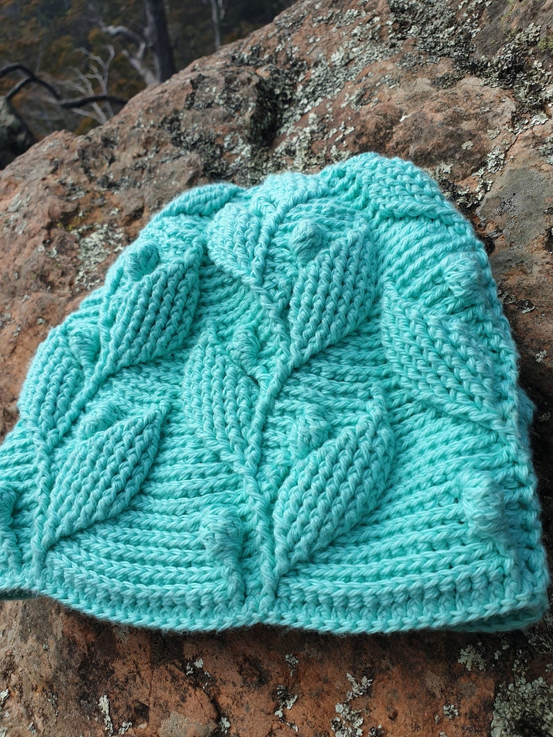 Embossed crochet cotton toddler slouchy beanie