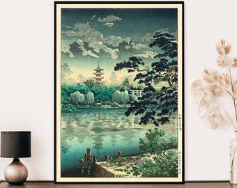 Japanese Print, Tsuchiya Koitsu Vintage Print, Ukiyo-e Art Print, Japanese Art Print, Koitsu Print - Wall Art Poster Print - Sizes A2 A3 A4