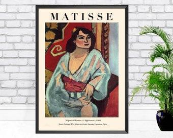 Henri Matisse Matisse (L'Algérienne) algerian woman 1909, Modern art, vintage art,Gift idea – Modern Wall Art Poster Print - Sizes A2 A3 A4