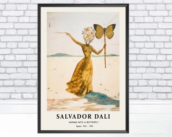 "SALVADOR DALI Botanical Art Poster or Canvas Print /""Pamplemousse érotique/"""