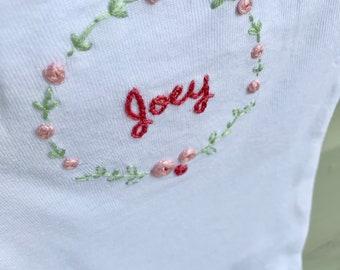 ADD-ON Embroidery by Hand embroidery name stitching customization Name Customization