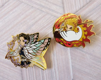 Insect/Flame Enamel Pins