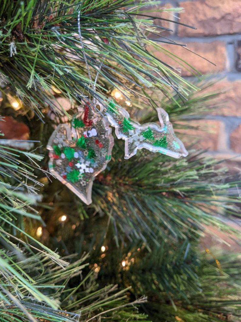 Christmas Overload Resin Michigan Ornament