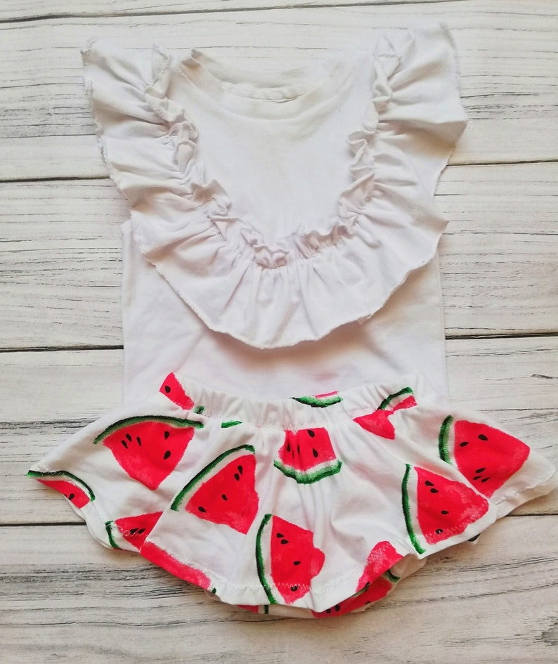Bloomers shirt with panties watermelon print sizes 62-6 years