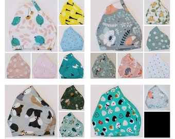 SMALL/KIDS SIZE Lightweight 2 Layer Washable High Quality Face Masks. Unisex Cotton Face Mask