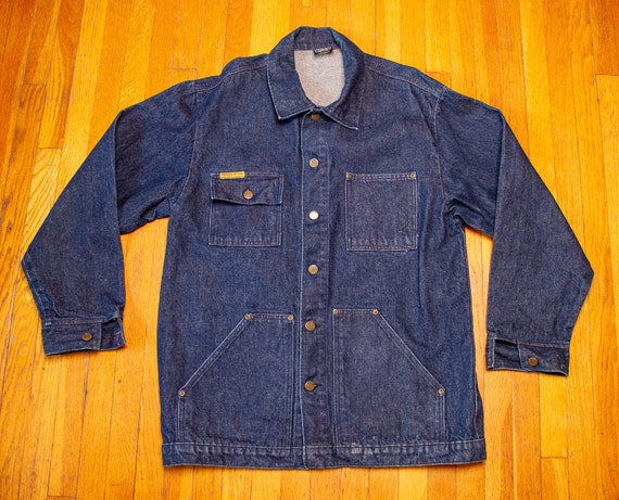 Vintage 80's Prison Blues Denim Inmate Work Chore