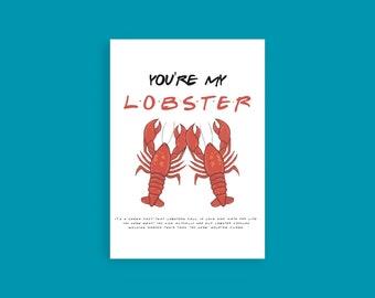 Valentines Lobster Badge How You Doin Friend Uncut or Cut Nursing Feltie Crafting Scrapbook Embellishment