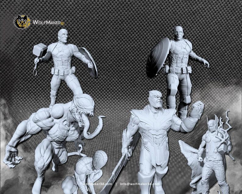 MARVEL CRISIS PROTOCOL superheroes scale Miniature image 0