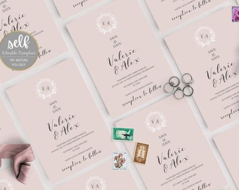 Simple Wedding  Save the date, Minimalist Wedding  Save the date, Wedding  Save the date Template, Wedding  Save the date Download