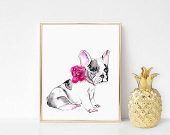 Custom wedding watercolor dog painting, Dog painting from photo, Watercolor pet portrait, Dog watercolor portrait