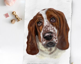 Custom dog painting, wedding dog, Dog painting from photo, Watercolor pet portrait, Dog watercolor portrait