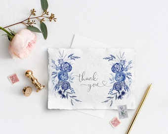 Wedding Crest Thank you card Template, Crest Wedding card, minimal Wedding Template Suite, Instant Download