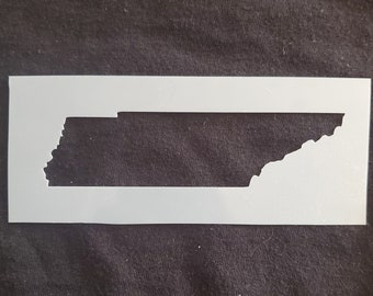 Hand Drawn Reusable Mylar Stencil Template Tennessee State Stencil