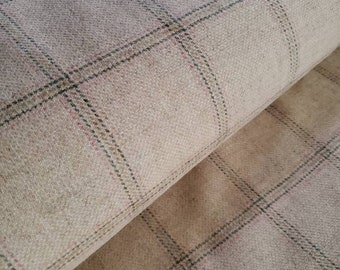 Cairnhaig Tweed 100% Pure Wool Fabric Imported From The U.K. Premium Wool Plaid Free Woven Label With Purchase