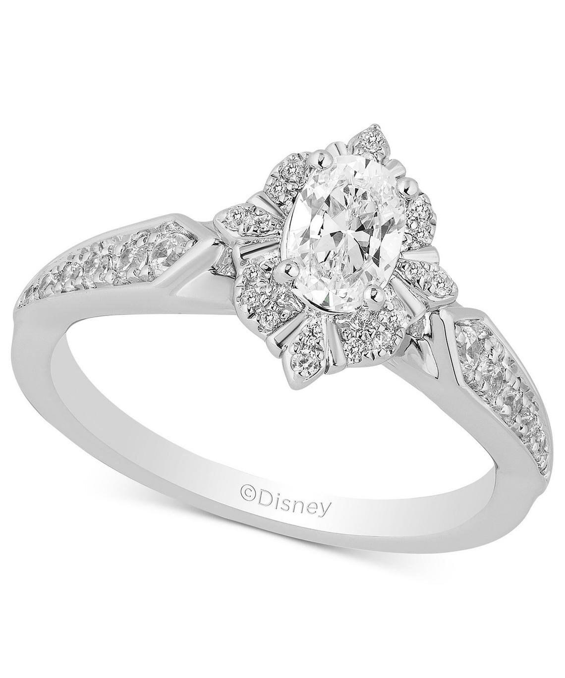 Enchanted Disney Villains Evil Queen 1.35 CT Round Cut Diamond Engagement Ring