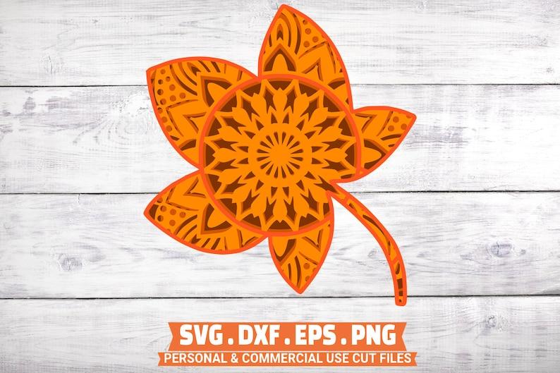 3D Thanksgiving Layer SVG Bundle 4 Layers Turkey Mandala ...