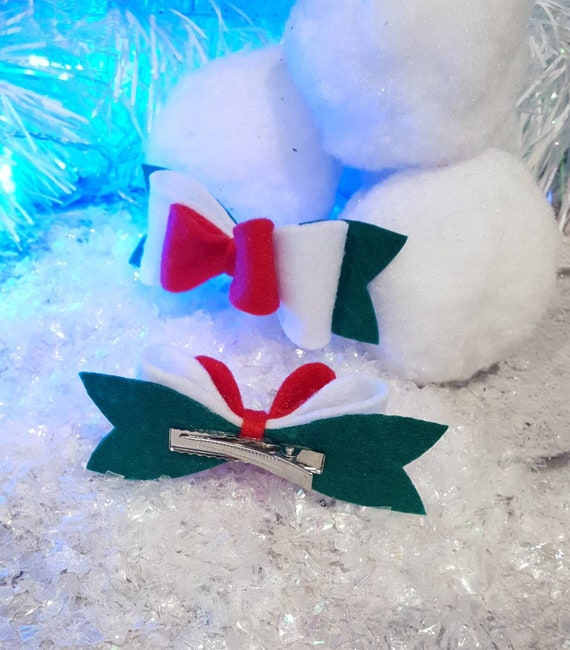 Festive Holiday Twin Hairbows
