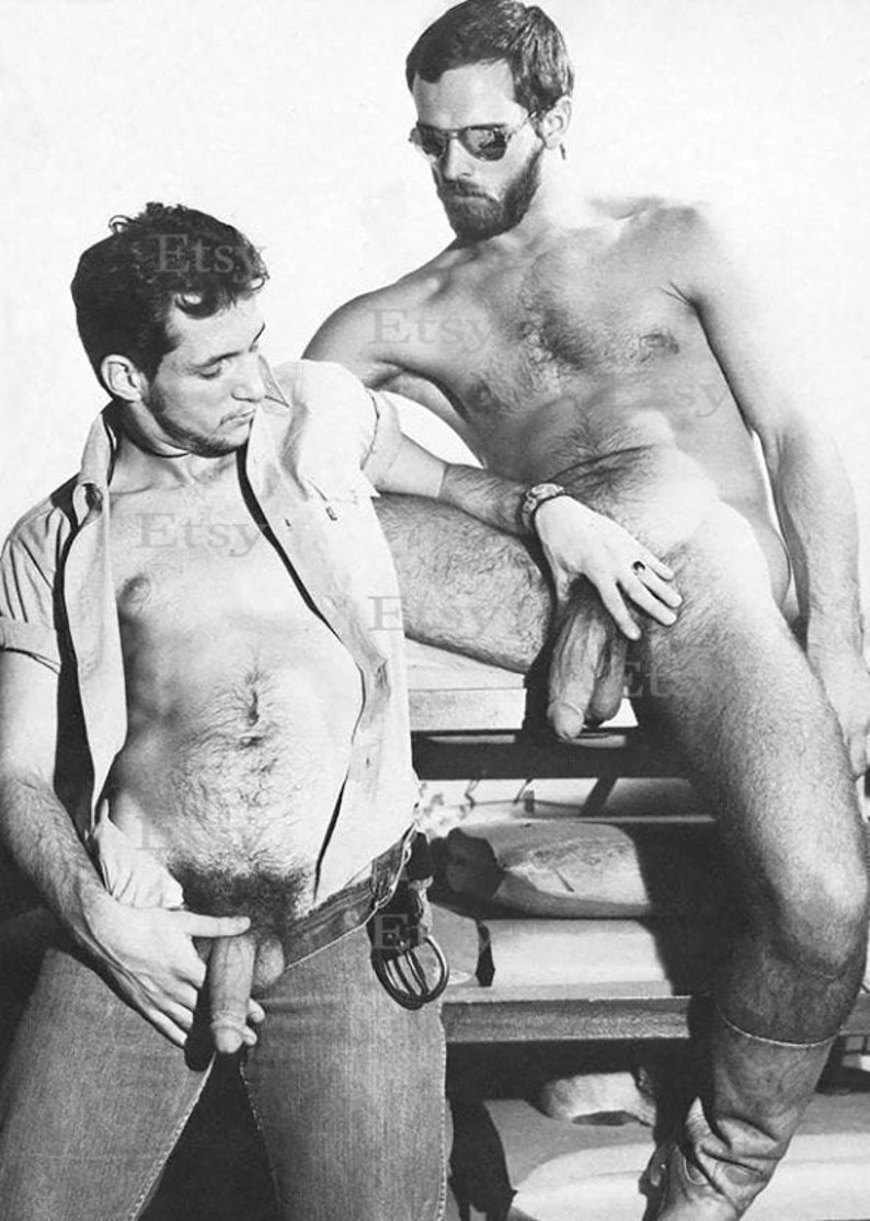 Vintage Gay Photo Print Poster Navy Sailors Military Men