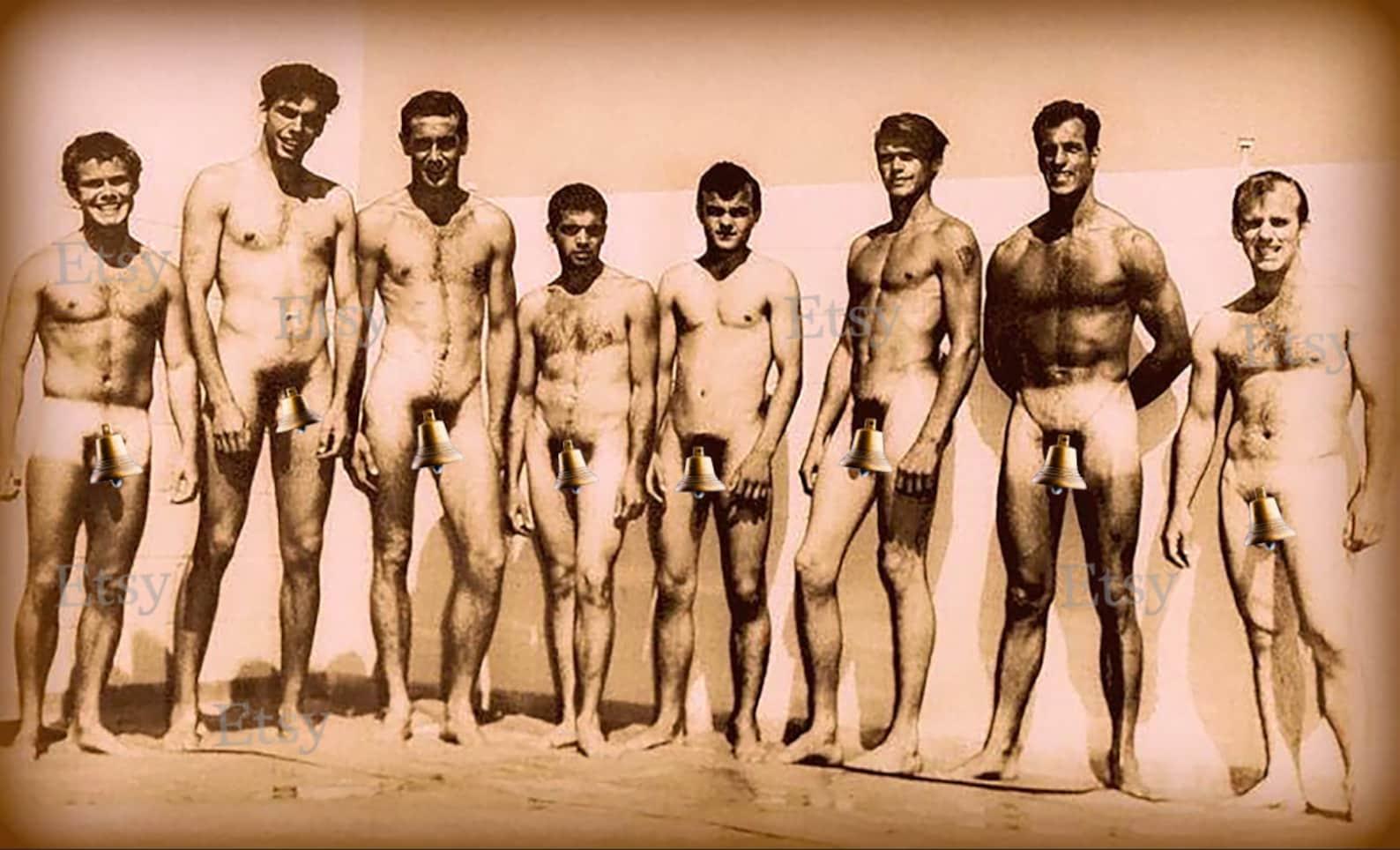 Vintage nude men nature
